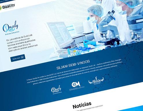 Criação de Sites - Grupo QUality Ambiental