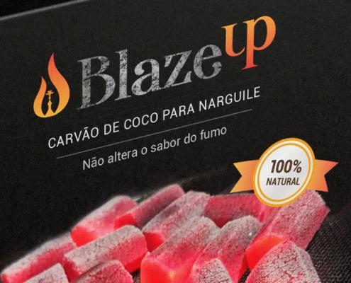 Embalagem Carvão de Coco BlazeUp